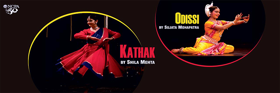 Odissi by Sujata Mohapatra and Kathak by Shila Mehta